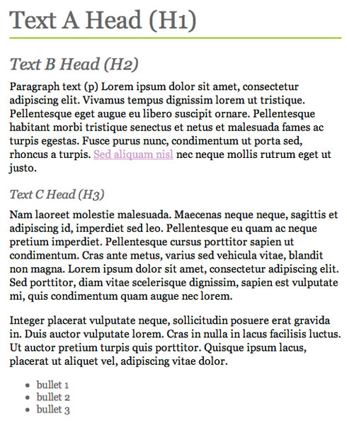 Style the Headings in CSS